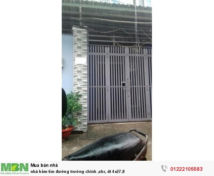 Nhà Hẻm 6m Đường Trường Chinh ,Shr, Dt 4x27,8