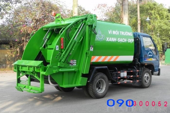 Bán trả góp Xe cuốn ép rác Thaco FLD250A 04 m3 (4 khối)
