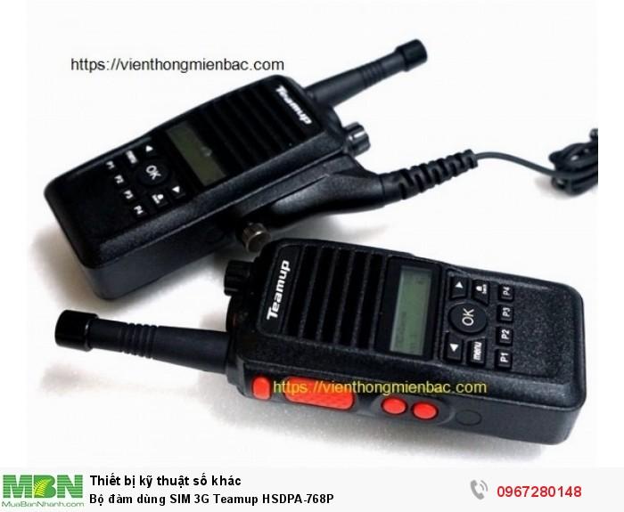 Bộ đàm dùng SIM 3G Teamup HSDPA-768P0