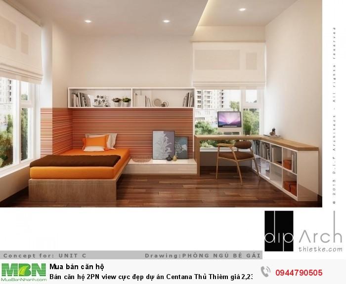 Bán căn hộ 2PN  view cực đẹp dự án Centana Thủ Thiêm giá 2,23 tỷ có VAT