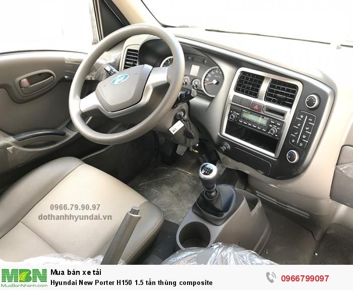 Hyundai New Porter H150 1.5 tấn thùng composite 2