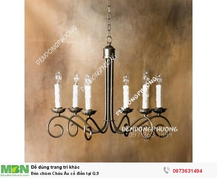 Đèn chùm Châu Âu cổ điển tại Q.90