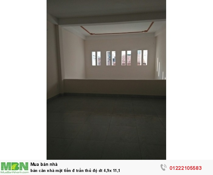Bán căn nhà mặt tiền đ Trần Thủ Độ dt 4,9x 11,1