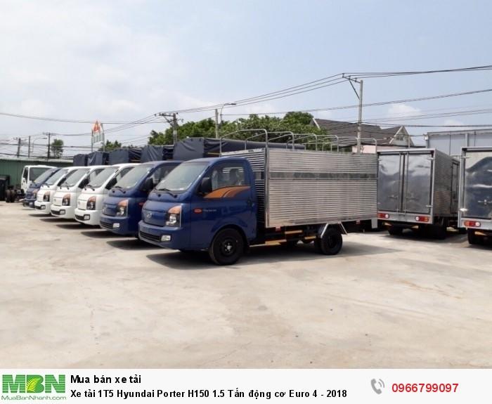 Xe tải 1T5 Hyundai Porter H150 1.5 Tấn động cơ Euro 4 - 2018 1
