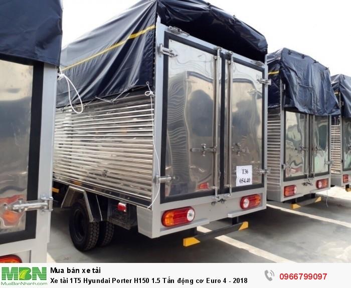 Xe tải 1T5 Hyundai Porter H150 1.5 Tấn động cơ Euro 4 - 2018 2