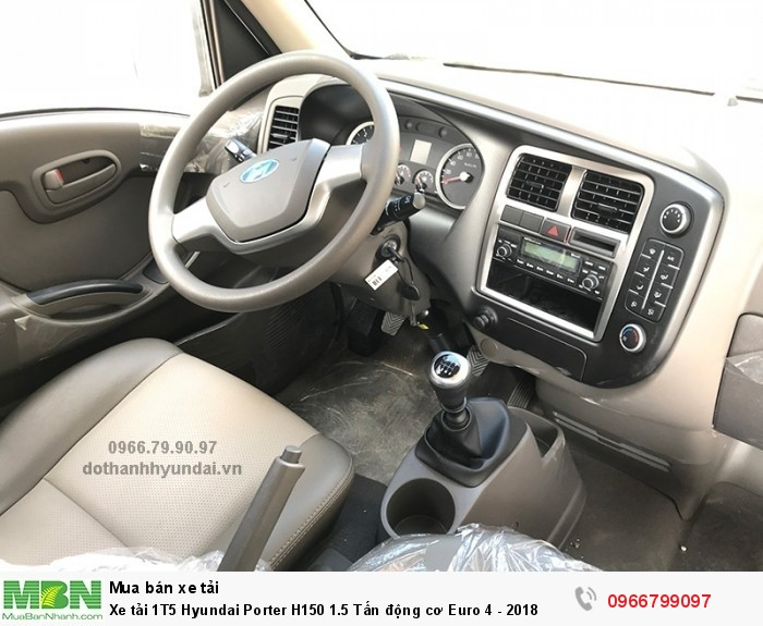 Xe tải 1T5 Hyundai Porter H150 1.5 Tấn động cơ Euro 4 - 2018 4