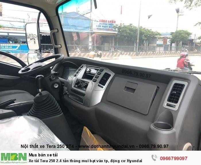 Xe tải Tera 250 2.4 tấn thùng mui bạt vào tp, động cơ Hyundai 4