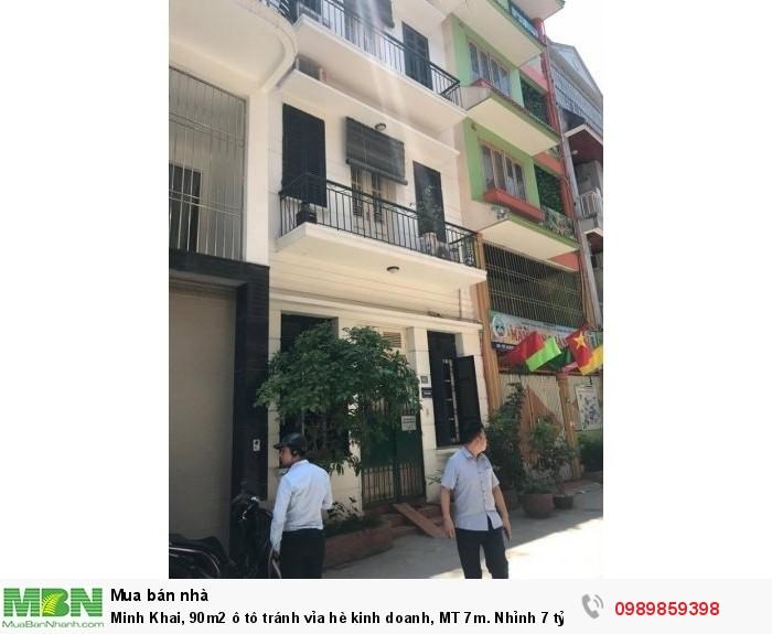Minh Khai, 90m2 ô tô tránh vỉa hè kinh doanh, MT 7m. Nhỉnh 7 tỷ.