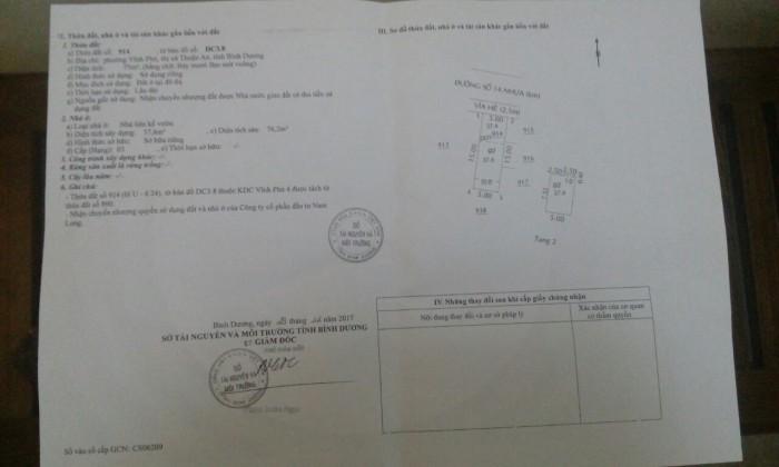 Bán Nhà Phố Đẹp Thuộc KDC Vĩnh Phú, Bình Dương