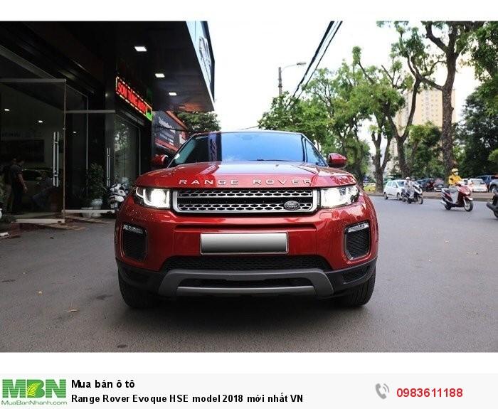 Range Rover Evoque HSE model 2018 mới nhất VN