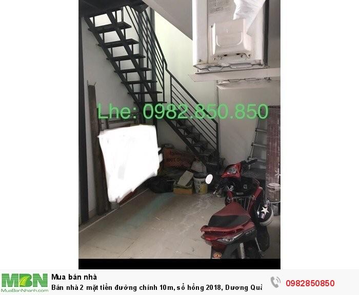 Bán nhà 2 mặt tiền đường chính 10m, sổ hồng 2018, Dương Quảng Hàm, P6