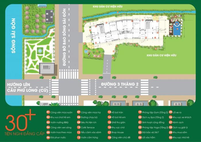 Vista Phú Long Riverside, 660tr/Nguyên Căn,Sổ Hồng Riêng,Tặng Nội thất