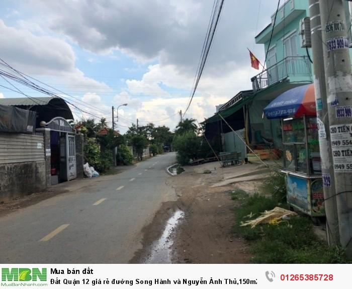 Đất Quận 12 giá rẻ đường Song Hành và Nguyễn Ảnh Thủ,150m2 ở phầm mềm Quang Trung, bao sổ hồng