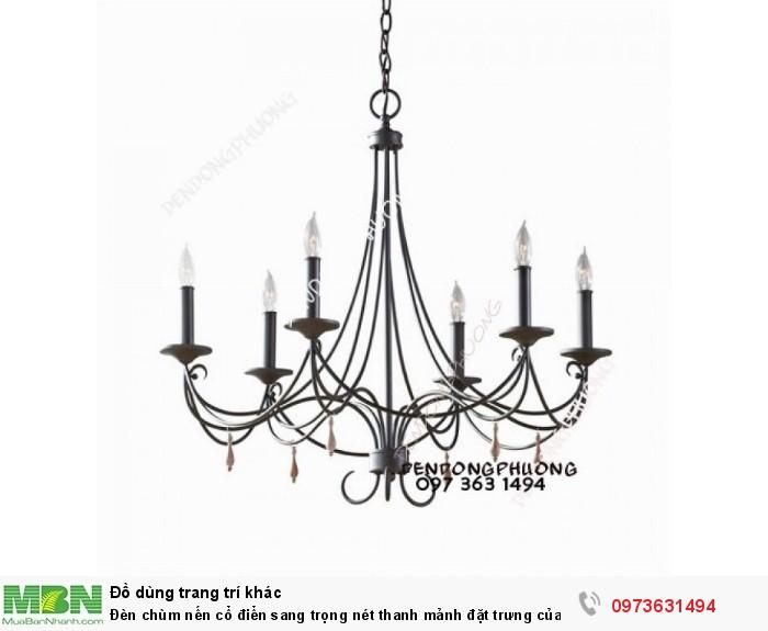 Đèn chùm nến cổ điển sang trọng nét thanh mảnh đặt trưng của dòng đèn châu Âu0