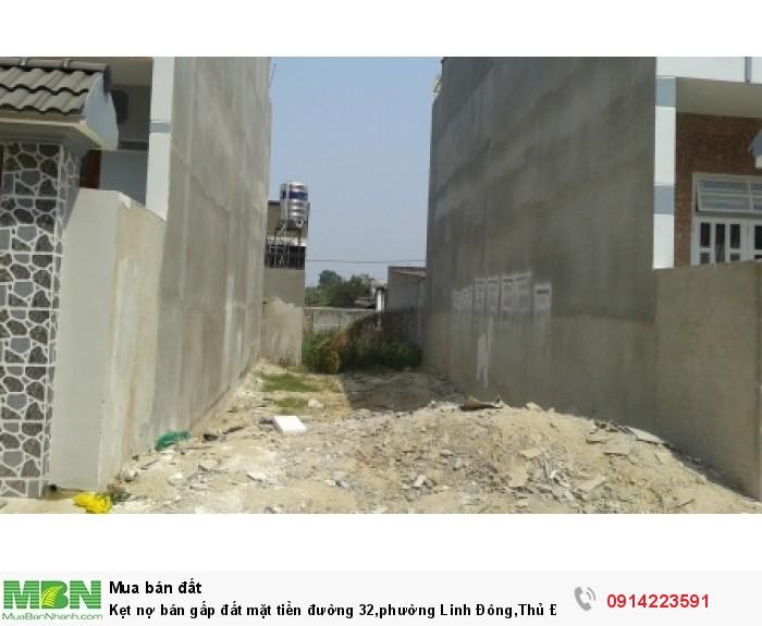 Kẹt nợ bán gấp đất mặt tiền đường 32,phường Linh Đông,Thủ Đức.