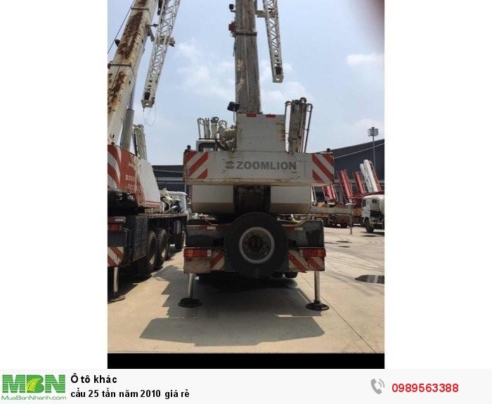 Cẩu 25 tấn năm 2010 giá rẻ