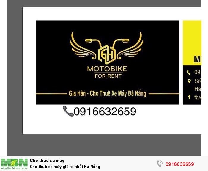 Cho thuê xe máy giá rẻ nhất Đà Nẵng