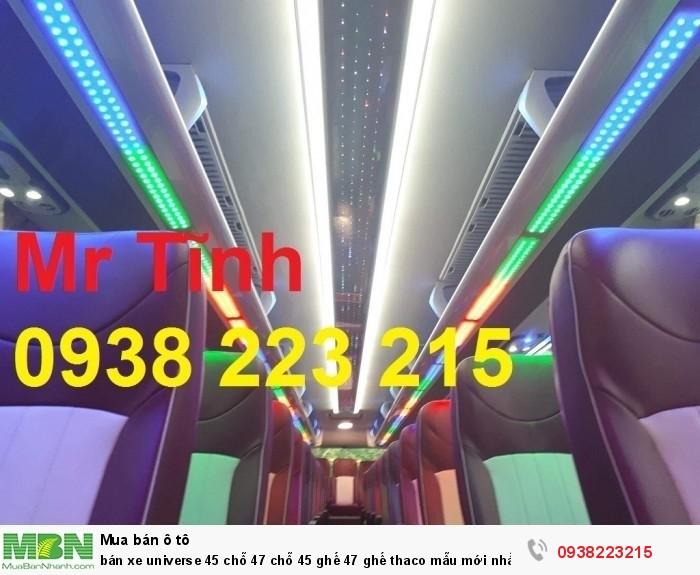 Bán xe Universe 45 chỗ 47 chỗ 45 ghế 47 ghế thaco mẫu mới nhất 2018 e4 giá rẻ nhất Sài Gòn 3
