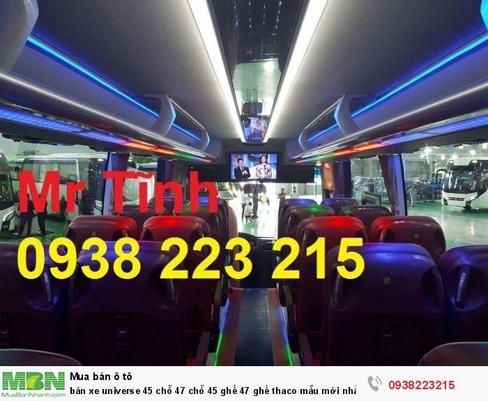 Bán xe Universe 45 chỗ 47 chỗ 45 ghế 47 ghế thaco mẫu mới nhất 2018 e4 giá rẻ nhất Sài Gòn 4