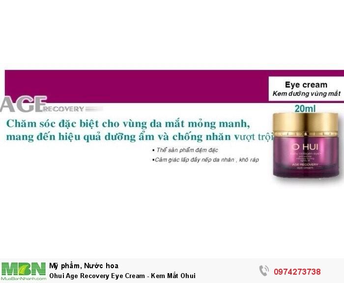 Ohui Age Recovery Eye Cream - Kem Mắt Ohui2