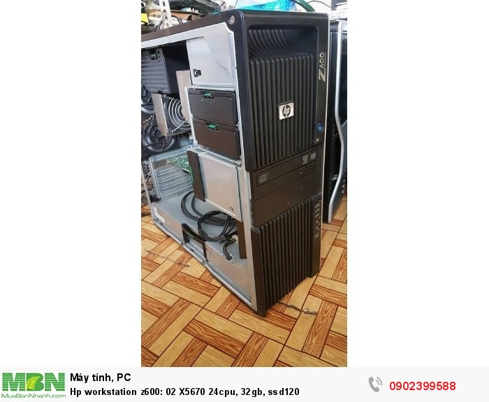 Hp workstation z600: 02 X5670 24cpu, 32gb, ssd1202