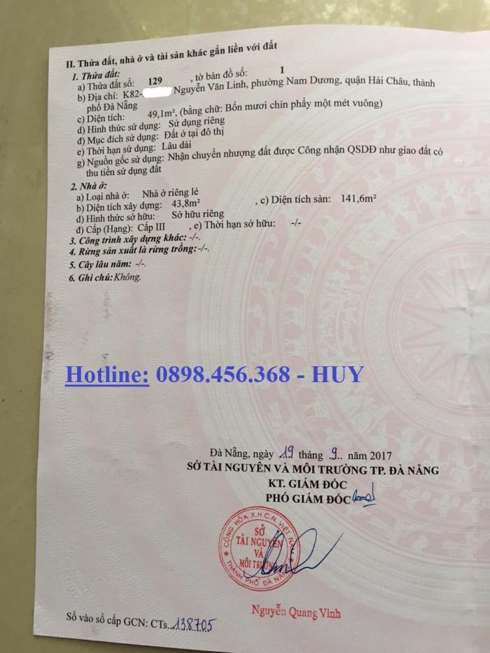 Bán nhà 3 tầng kiệt Trung tâm thành phố, kiệt 82 Nguyễn Văn Linh, TP Đà Nẵng, giá rất rẻ chỉ 2,32 tỷ
