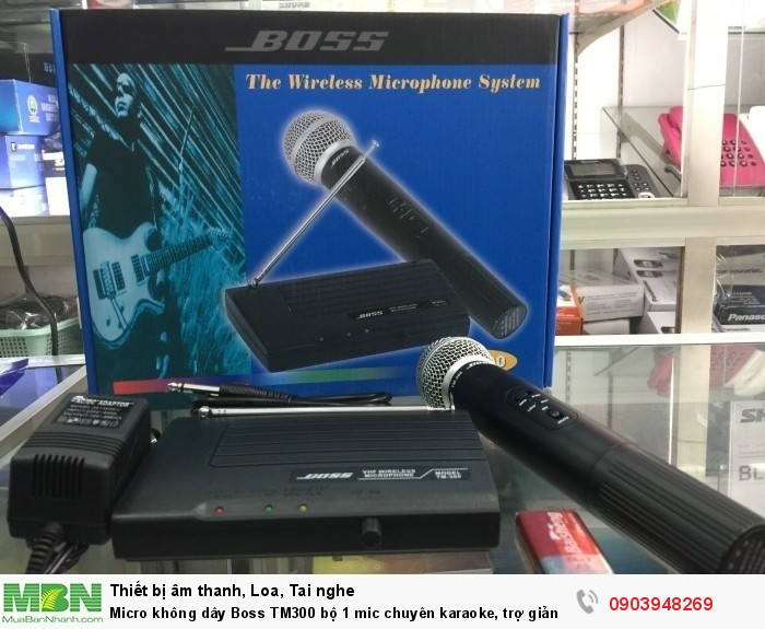 Micro không dây Boss TM-300 thích hợp đem theo bên mình cho công việc có tính chất cơ động, như ca hát, chạy sô, hội họp, thuyết trình, giảng dạy.2