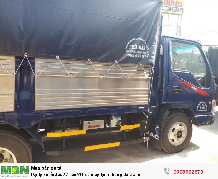 Đại lý xe tải Jac 2.4 tấn/2t4 có máy lạnh thùng dài 3.7m 2