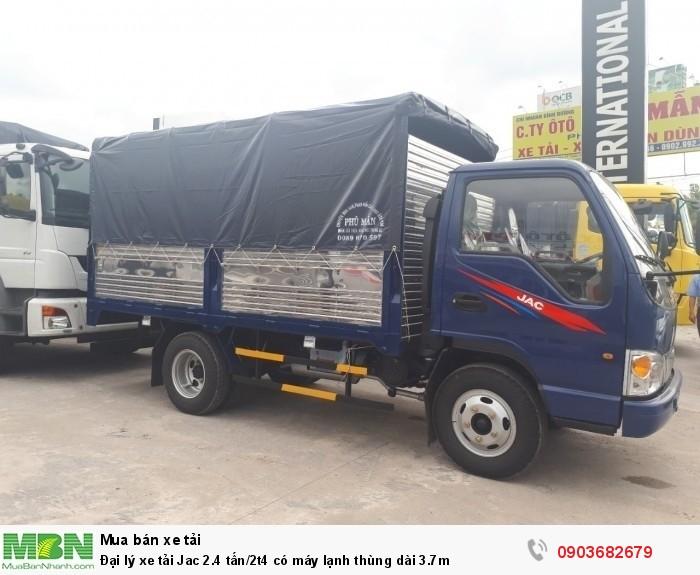 Đại lý xe tải Jac 2.4 tấn/2t4 có máy lạnh thùng dài 3.7m 3