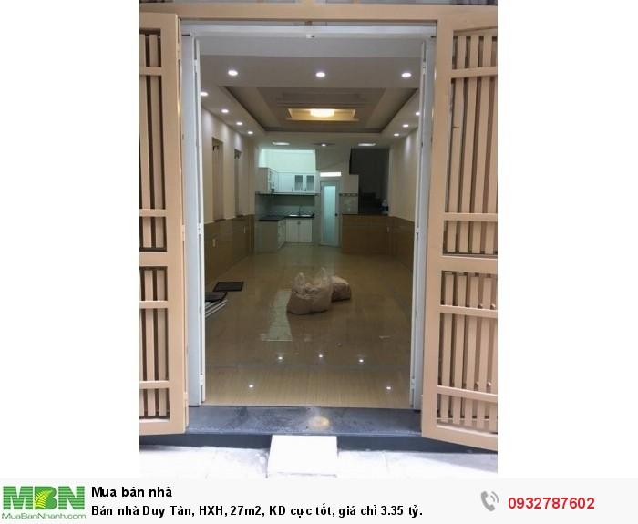 Bán nhà Duy Tân, HXH, 27m2, KD cực tốt, giá chỉ 3.35 tỷ.