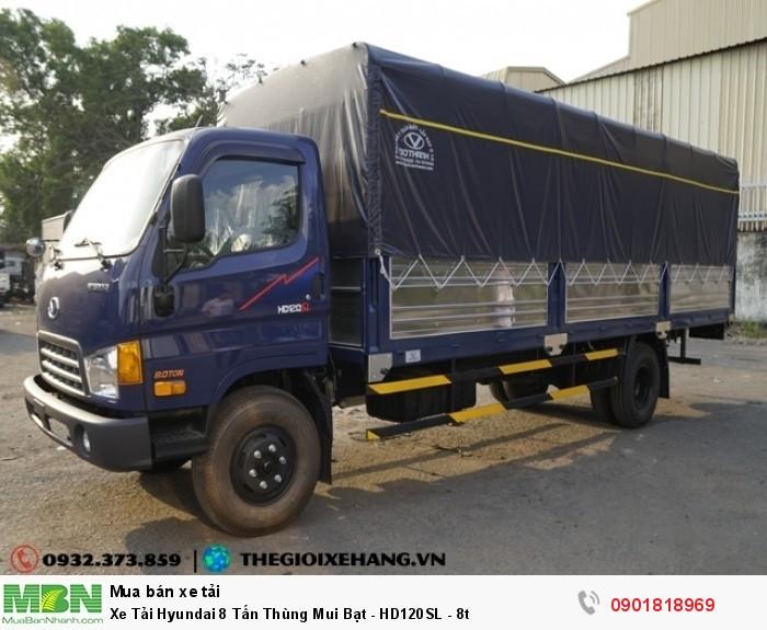 Xe Tải Hyundai 8 Tấn Thùng Mui Bạt - HD120SL - 8t