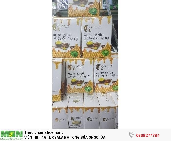 OSALA Viên Tinh Nghệ Mật Ong Sữa Ong Chú2