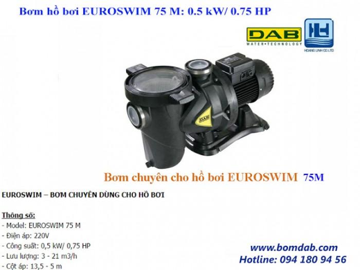 Bơm hồ bơi EUROSWIM 75 M: 0.5 kW/ 0.75 HP