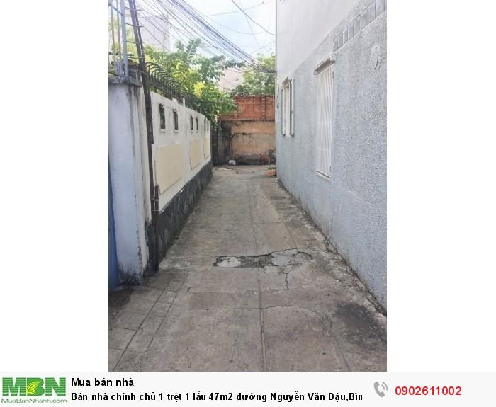 Bán Nhà Chính Chủ 1 Trệt 1 Lầu 47M2 Đường Nguyễn Văn Đậu, Bình Thạnh