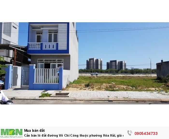 Cần bán lô đất đường Võ Chí Công thuộc phường Hòa Hải, giá đầu tư.