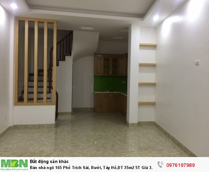 Bán nhà ngõ 165 Phố Trích Sài, Bưởi, Tây Hồ,DT 35m2 5T Giá 3.05 tỷ