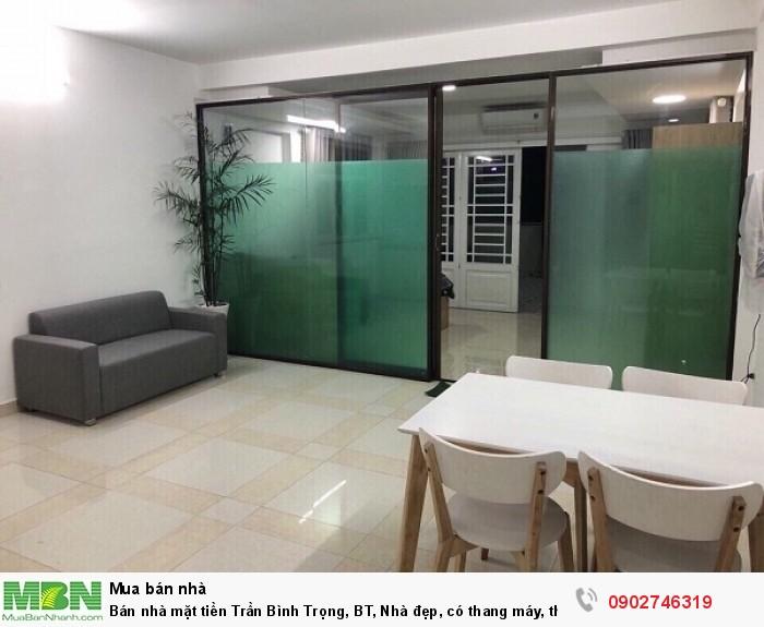 Bán nhà mặt tiền Trần Bình Trọng, BT, Nhà đẹp, có thang máy, thu nhập