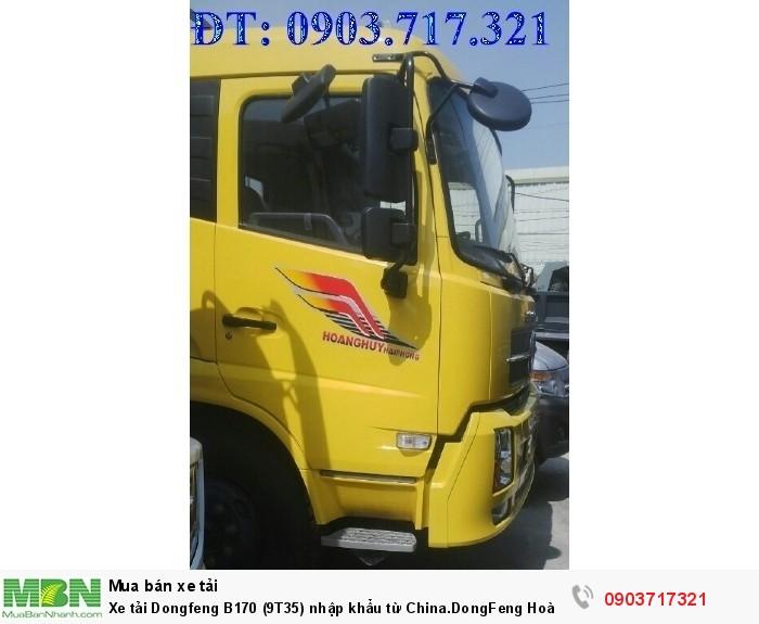 Xe tải Dongfeng B170 (9T35) nhập khẩu từ China.DongFeng Hoàng Huy B170 9350Kg