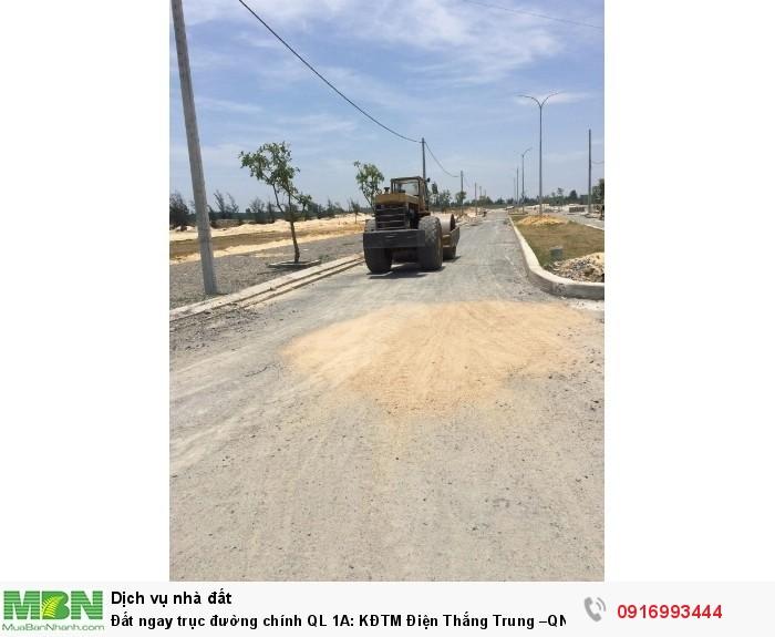 Đất ngay trục đường chính QL 1A: KĐTM Điện Thắng Trung –QN