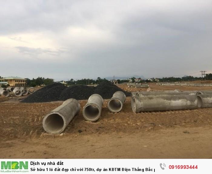 Sở hữu 1 lô đất đẹp chỉ với 750tr, dự án KĐTM Điện Thắng Bắc phù hợp với bạn