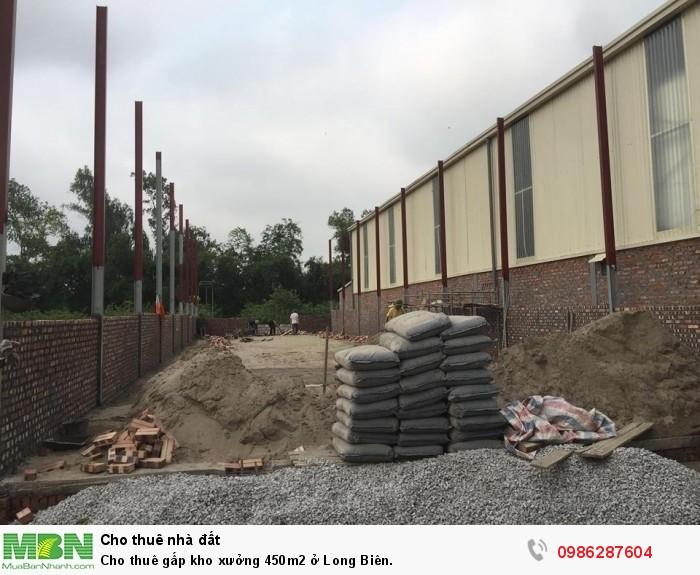 Cho thuê gấp kho xưởng 450m2 ở Long Biên.