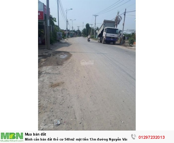 Mình cần bán đất thổ cư 540m2 mặt tiền 13m đường Nguyễn Văn Tạo, Hiệp Phước