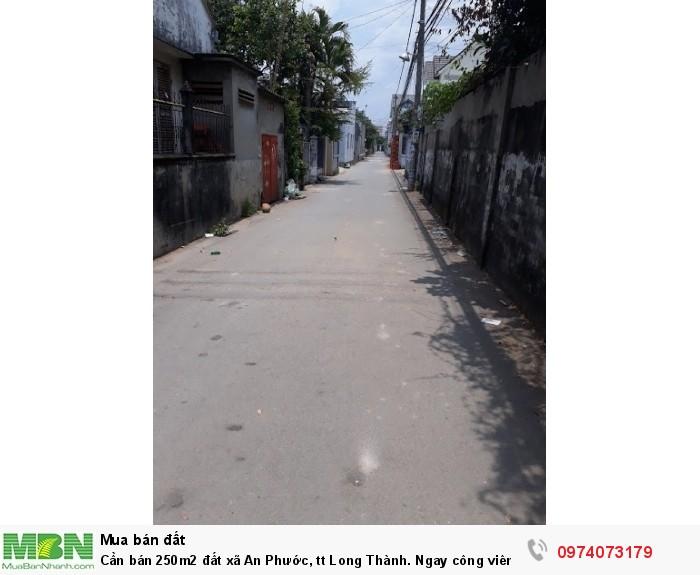 Cần bán 250m2 đất xã An Phước, tt Long Thành. Ngay công viên 3A, sổ hồng thổ cư.