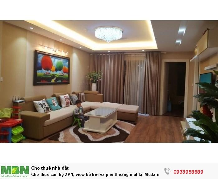 Cho thuê căn hộ 2PN, view bể bơi và phố thoáng mát tại Medarin Garden 2 Tân Mai