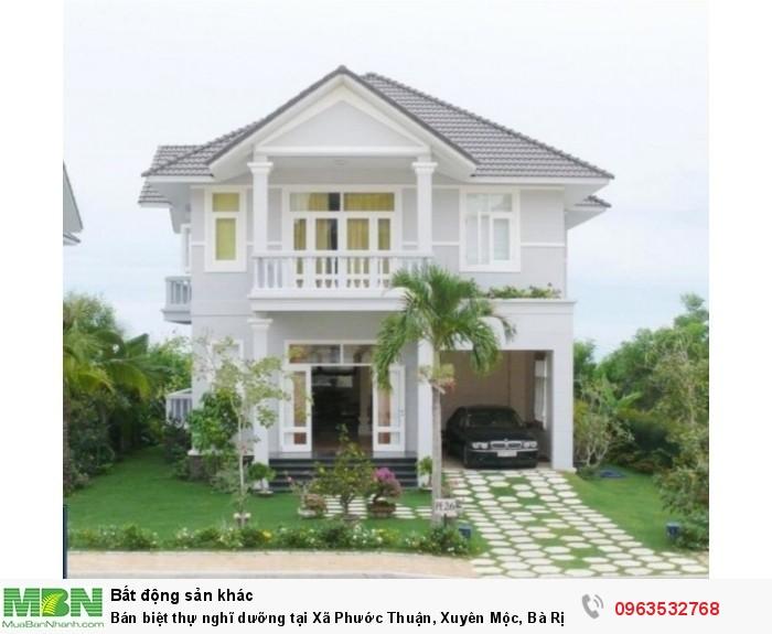 Bán biệt thự nghĩ dưỡng tại Xã Phước Thuận, Xuyên Mộc,  Bà Rịa Vũng Tàu diện tích 168m2  giá 14.8 Triệu/m²