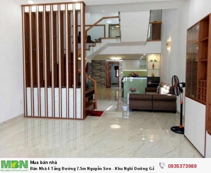 Bán Nhà 4 Tầng Đường 7.5m Nguyễn Sơn - Khu Nghỉ Dưỡng Gần Sông - Hòa Cường Nam