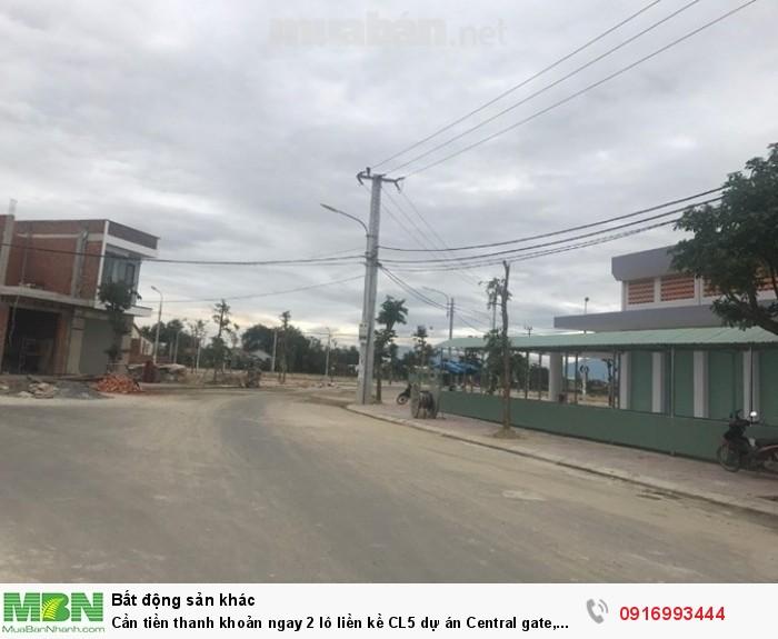 Cần tiền thanh khoản ngay 2 lô liền kề CL5 dự án Central gate, Điện Bàn, Quảng Nam