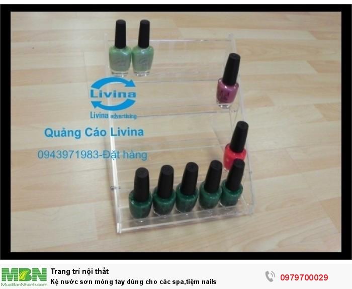 Kệ nước sơn móng tay dùng cho các spa,tiệm nails0