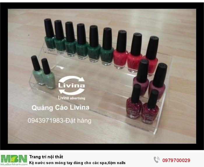 Kệ nước sơn móng tay dùng cho các spa,tiệm nails2