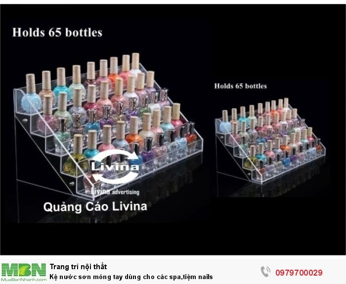 Kệ nước sơn móng tay dùng cho các spa,tiệm nails3